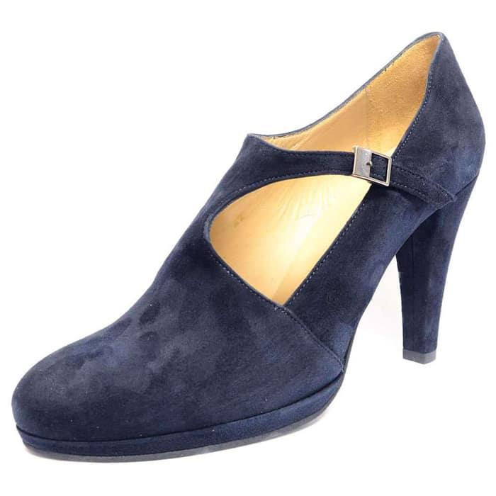 escarpins femme grande taille du 38 au 48, velours bleu, talon de  9 cm et plus, à patins escarpin talon haut, toutes saisons