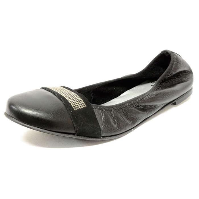 mocassins femme grande taille du 38 au 48, cuir lisse noir, talon de 0,5 à 2 cm, plates souples confort, toutes saisons