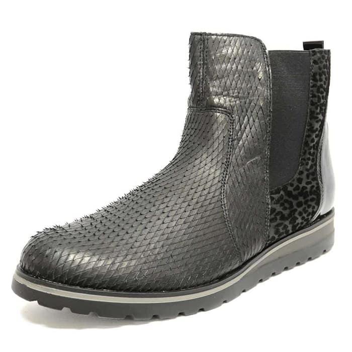 bottines femme grande taille du 38 au 48, python noir, talon de 0,5 à 2 cm, bottines talon plat mode, hiver