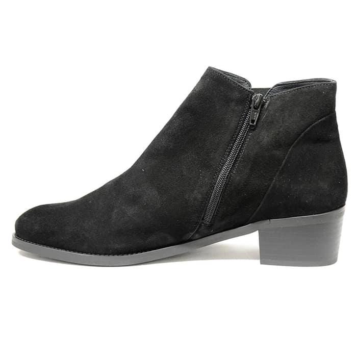 bottines femme grande taille du 38 au 48, velours noir, talon de 3 à 4 cm, bottines talon plat mode tendance, hiver