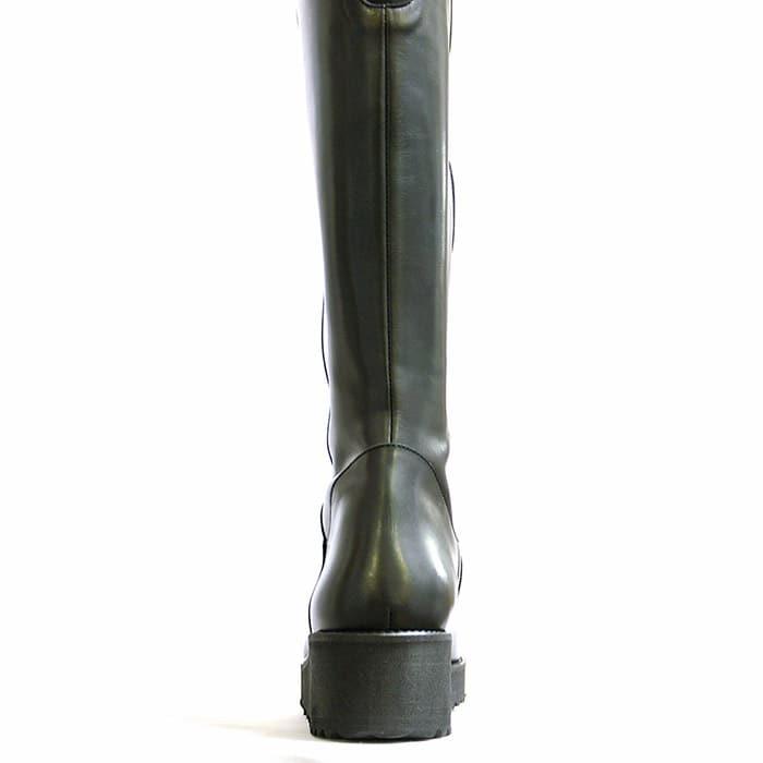 bottes femme grande taille du 38 au 48, cuir lisse noir, talon de 5 à 6 cm, tendance confort talons compensés, hiver