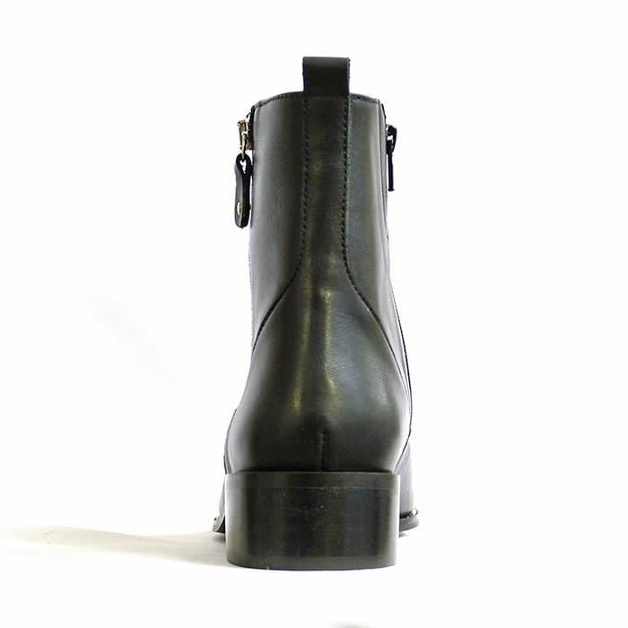 bottines femme grande taille du 38 au 48, cuir lisse noir, talon de 3 à 4 cm, habillee bottines bottillons, toutes saisons