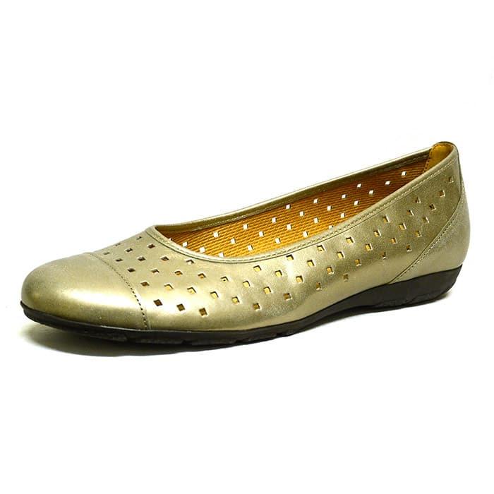 ballerines femme grande taille du 38 au 48, cuir lisse bronze or, talon de 0,5 à 2 cm, confort detente, printemps